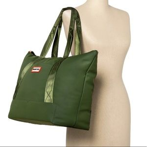 Hunter x Target Large tote travel bag green NWT